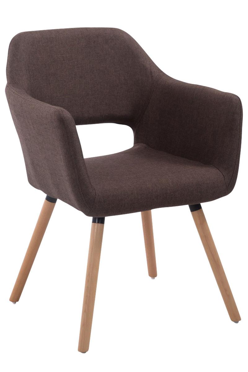 Jídelní židle s područkami Arizona textil, přírodní nohy hnědá