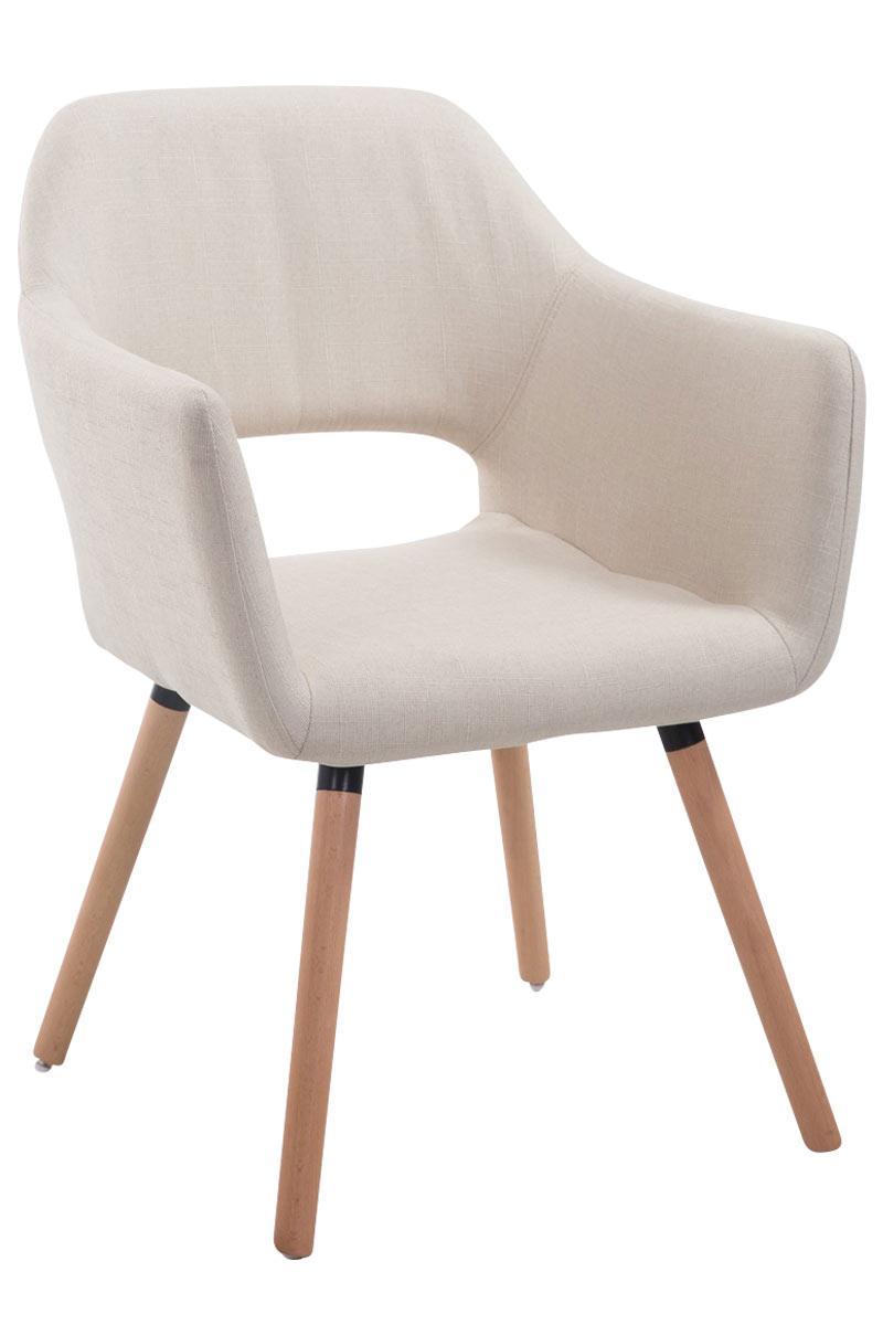 Jídelní židle s područkami Arizona textil, přírodní nohy krémová