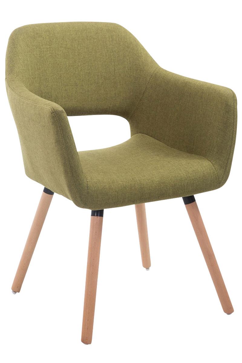 Jídelní židle s područkami Arizona textil, přírodní nohy zelená