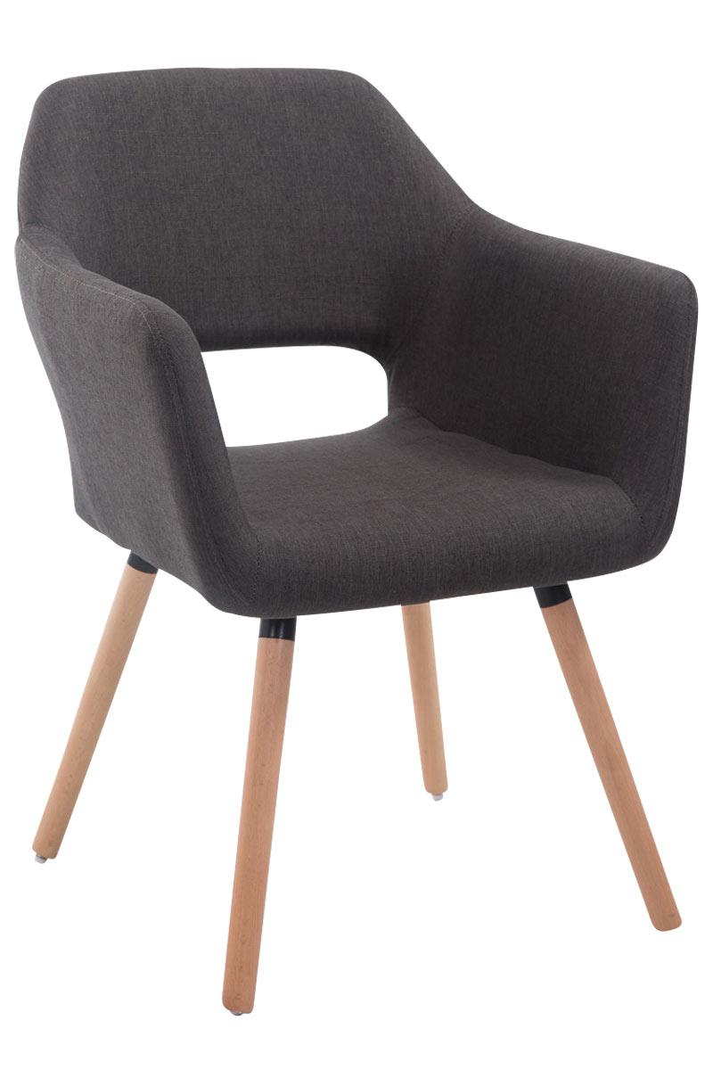 Jídelní židle s područkami Arizona textil, přírodní nohy