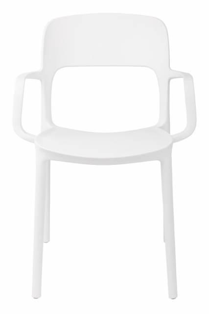 Jídelní židle s područkami Blod, bílá