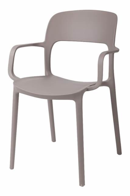 Jídelní židle s područkami Blod, šedá
