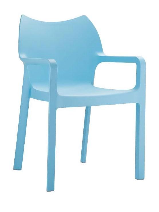 Jídelní židle s područkami Demy (SET 2 ks) bílá