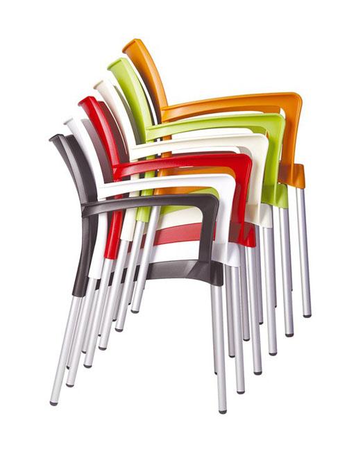 Jídelní židle s područkami Dolly (SET 2 ks)