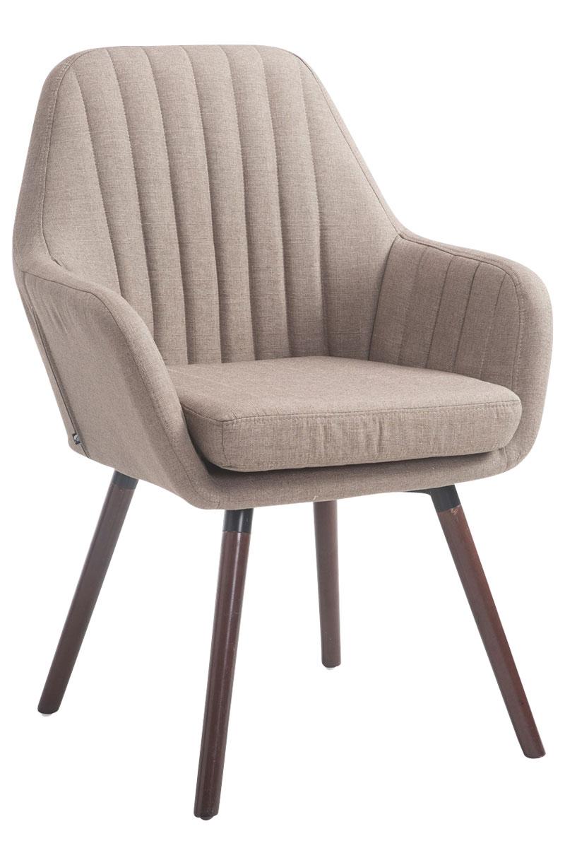 Jídelní židle s područkami Fiona textil, nohy ořech