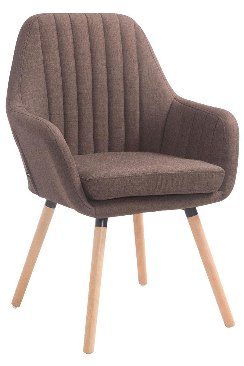 Jídelní židle s područkami Fiona textil, přírodní nohy