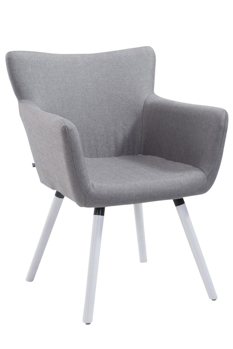 Jídelní židle s područkami Indian textil, bílé nohy šedá
