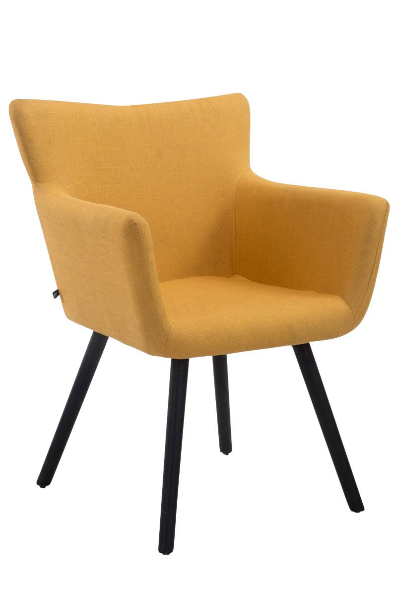 Jídelní židle s područkami Indian textil, černé nohy