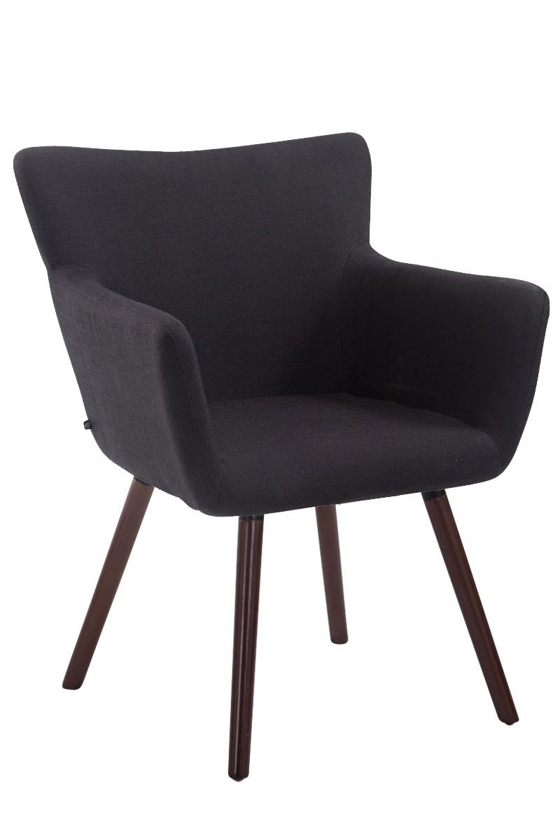 Jídelní židle s područkami Indian textil, nohy ořech černá