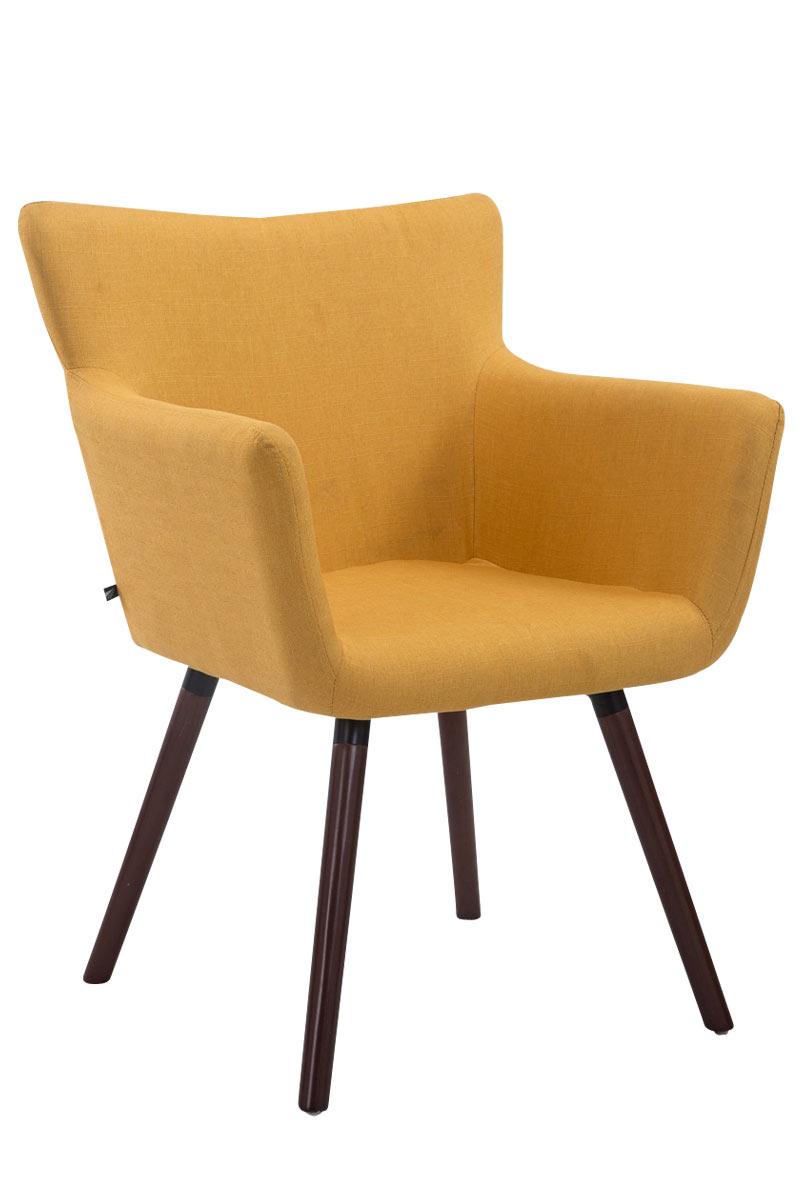 Jídelní židle s područkami Indian textil, nohy ořech