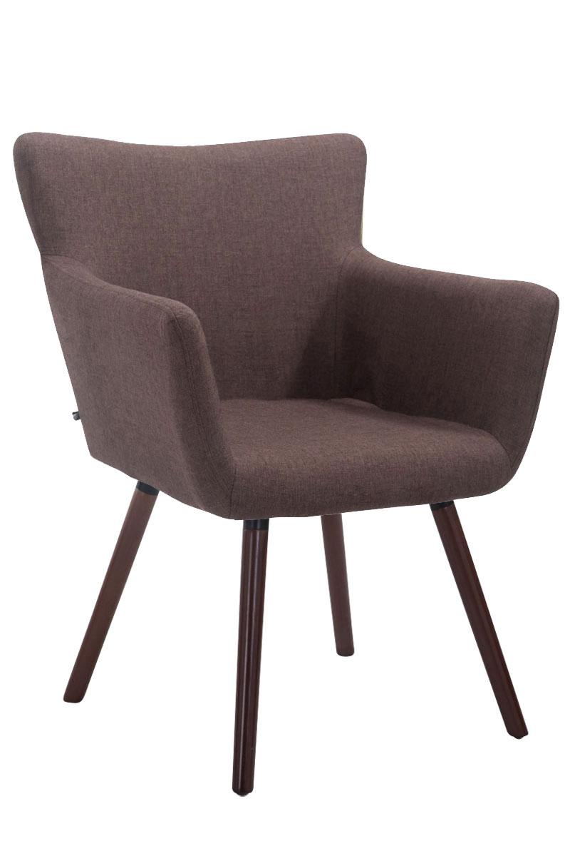 Jídelní židle s područkami Indian textil, nohy ořech hnědá