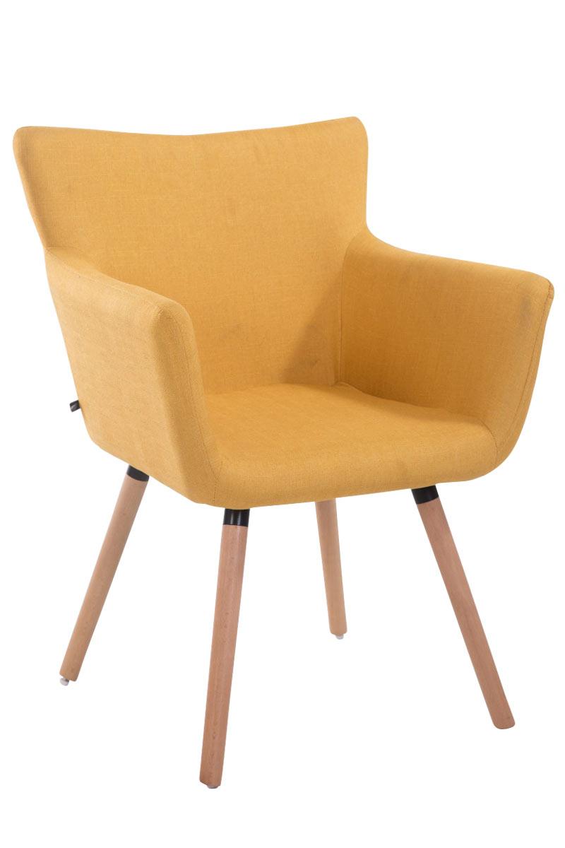 Jídelní židle s područkami Indian textil, přírodní nohy