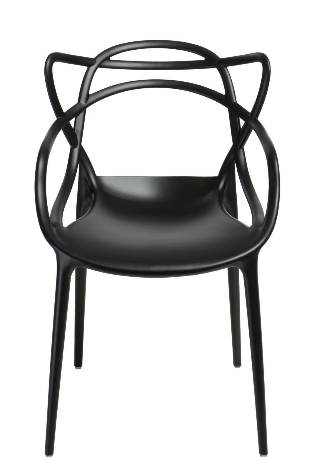 Jídelní židle s područkami Minster, černá