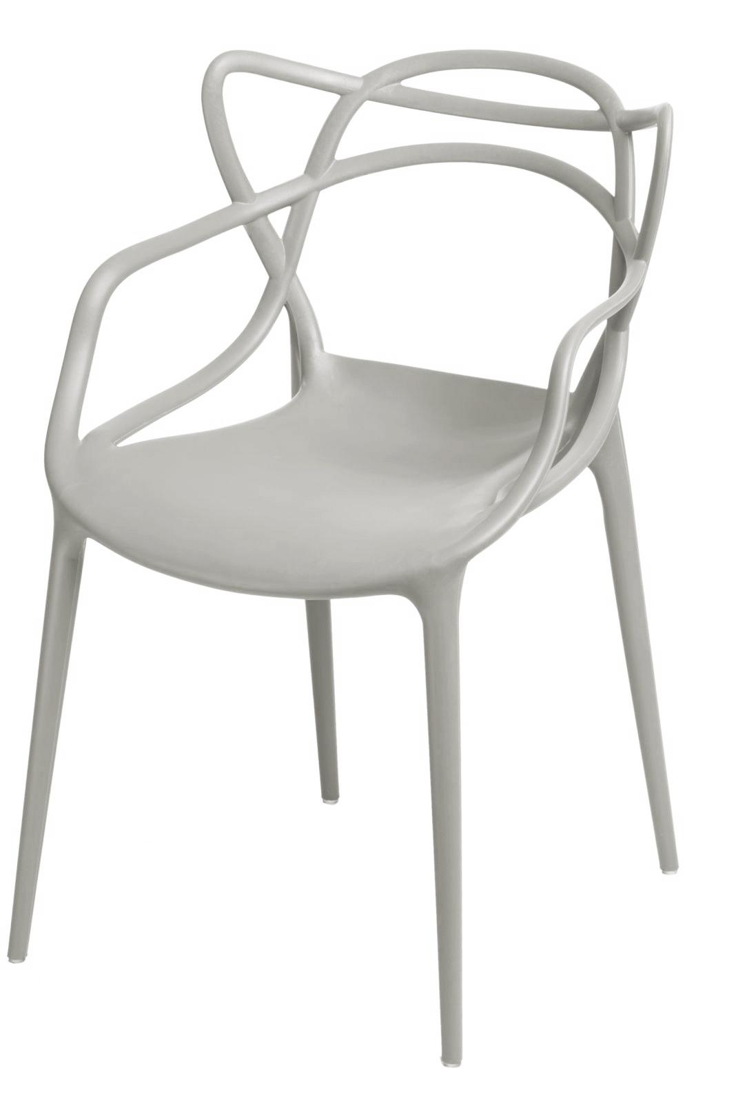 Jídelní židle s područkami Minster, šedá