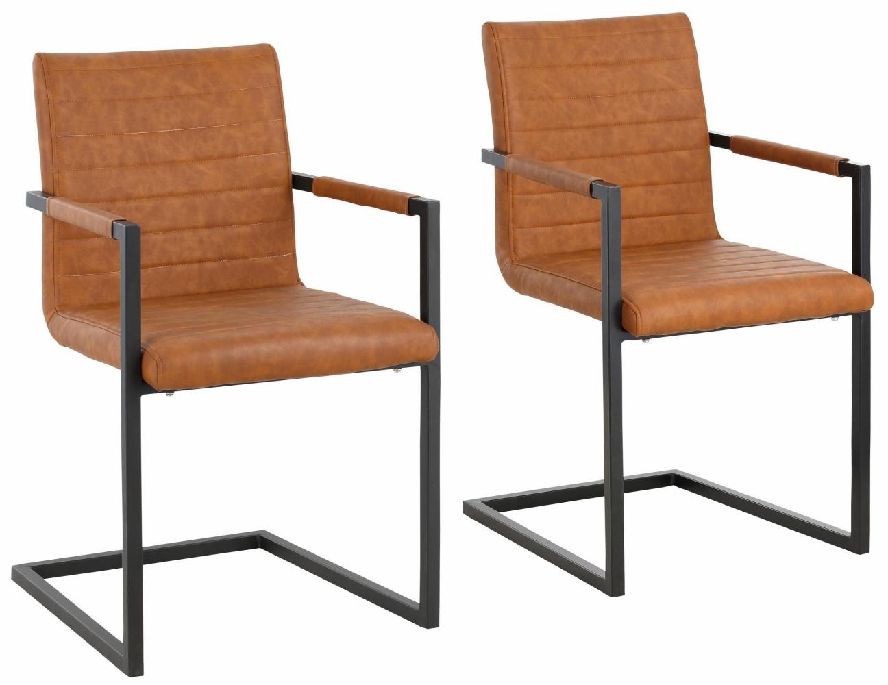 Jídelní židle Sande (SET 2 ks), koňaková
