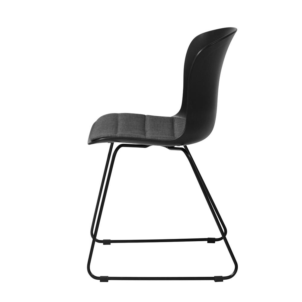 Jídelní židle Serena (SET 2 ks), černá/šedá