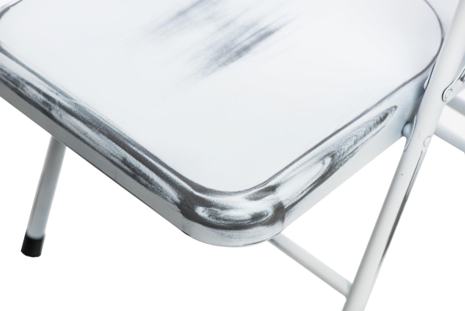 Jídelní židle skládací Cortis, antik bílá