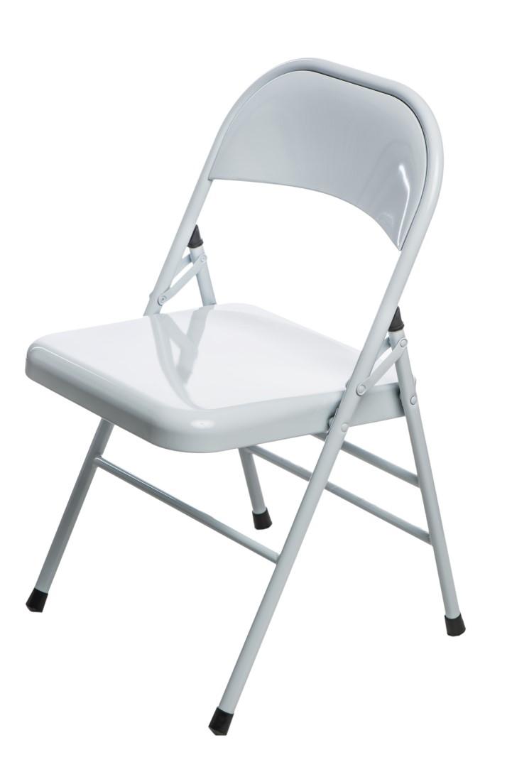Jídelní židle skládací Cortis, bílá