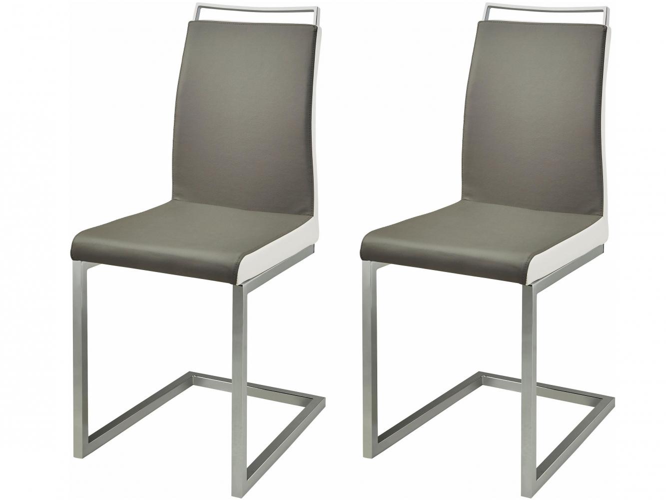 Jídelní židle Star (SET 2 ks), šedá