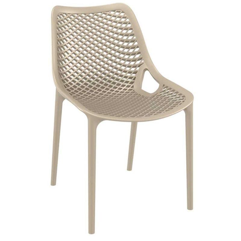 Jídelní židle stohovatelná Rio (SET 2 ks) šedá
