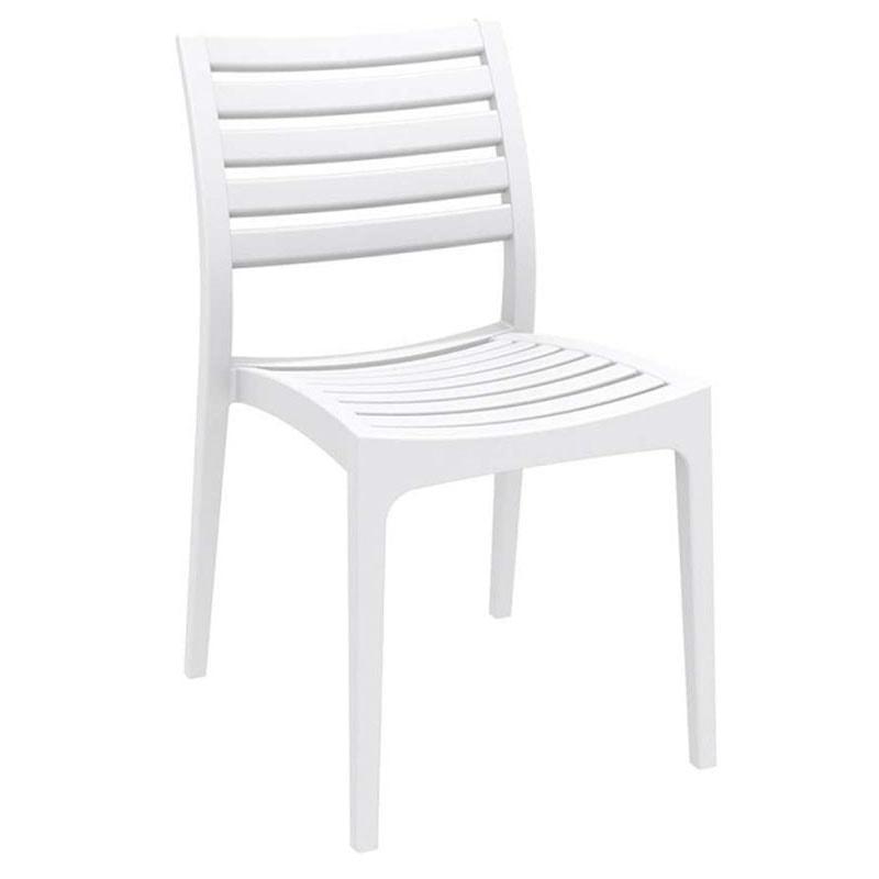 Jídelní židle stohovatelná Sara (SET 2 ks) bílá