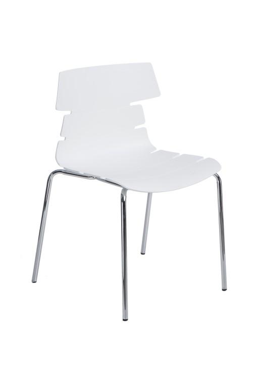 Jídelní židle Stolen, bílá