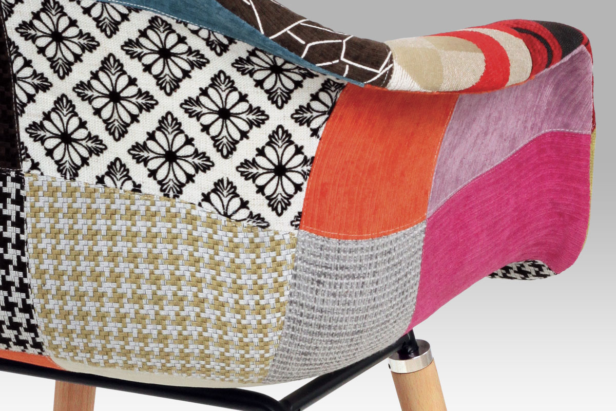 Jídelní židle Teresa patchwork (SET 2 ks), barevná