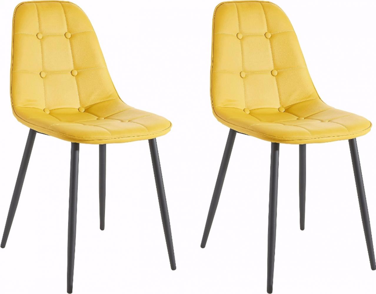 Jídelní židle Toel (SET 2 ks), žlutá
