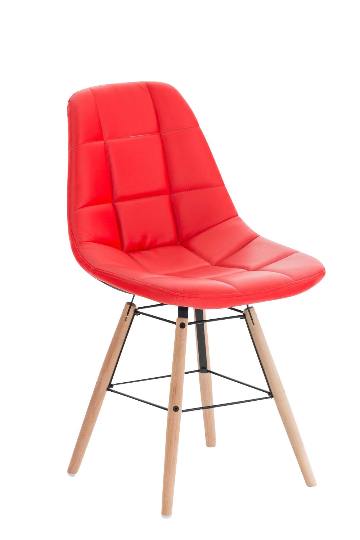 Jídelní židle Toronto kůže červená