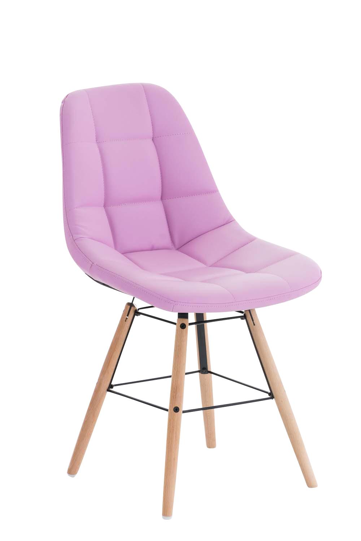 Jídelní židle Toronto kůže růžová