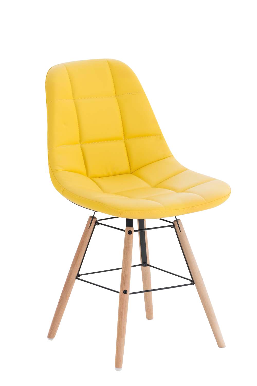 Jídelní židle Toronto kůže žlutá