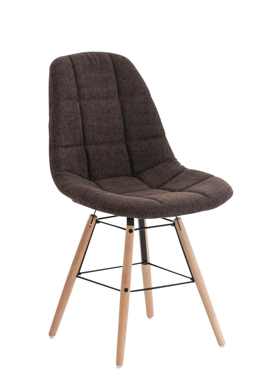 Jídelní židle Toronto textil hnědá