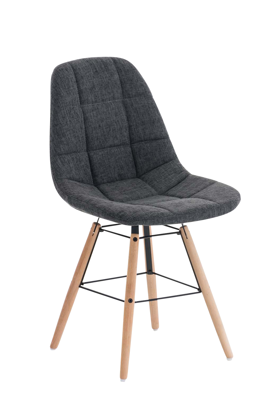 Jídelní židle Toronto textil tmavě šedá