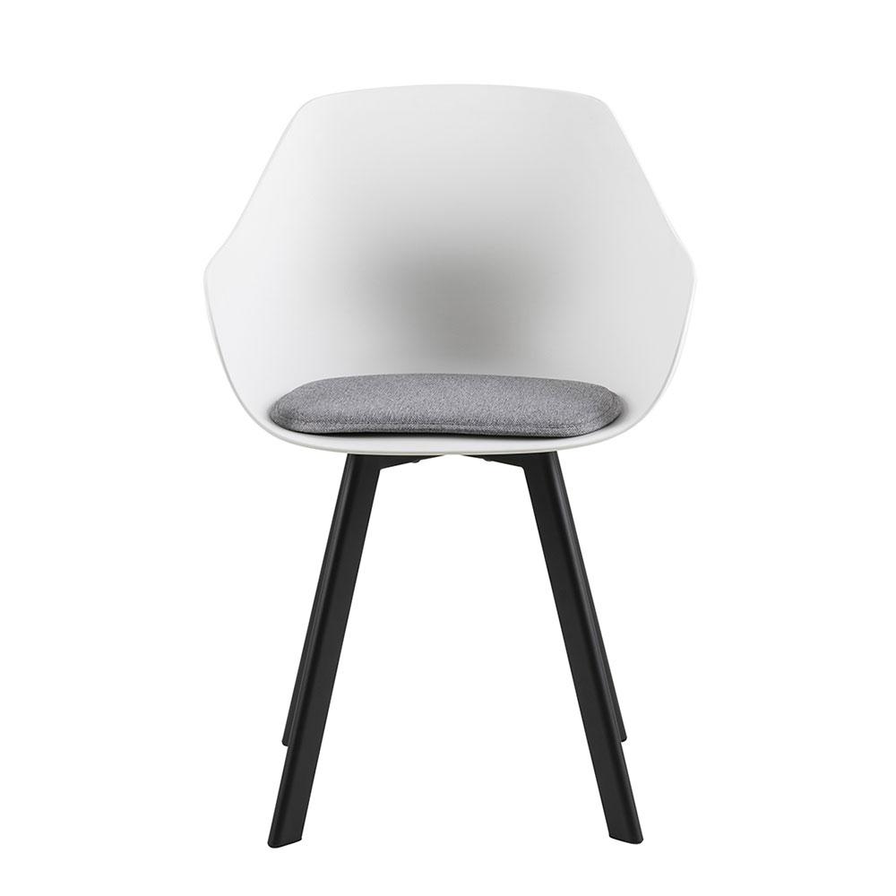 Jídelní židle Vilma s kovovou podnoží (SET 2 ks), bílá/šedá
