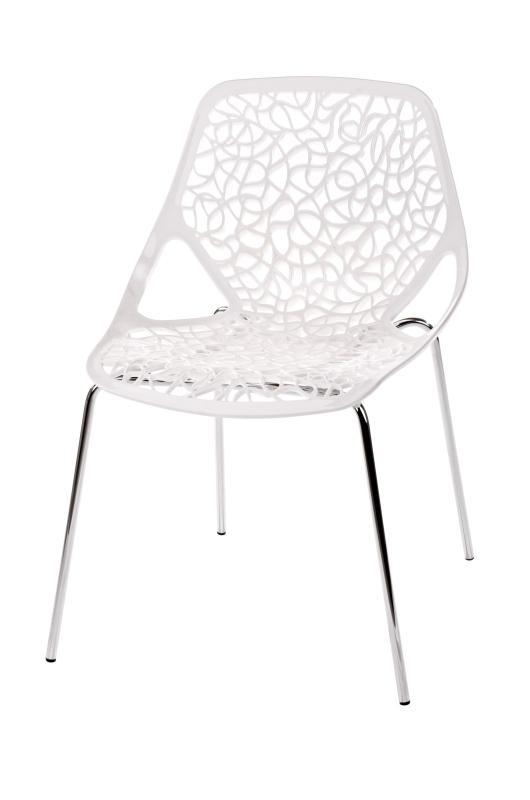 Jídelní židle Vinstok, bílá