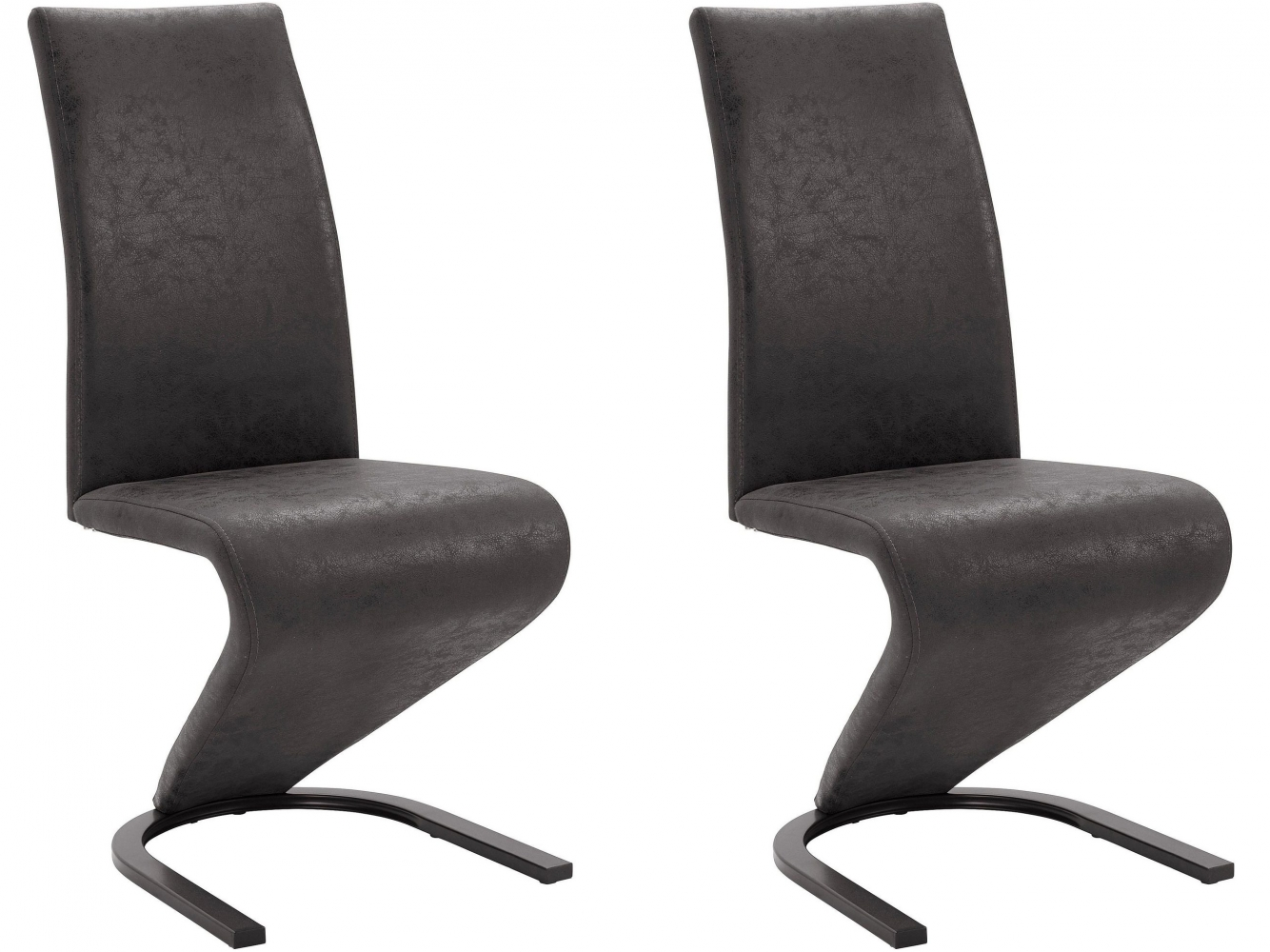 Jídelní židle Zapi (SET 2 ks), antracitová