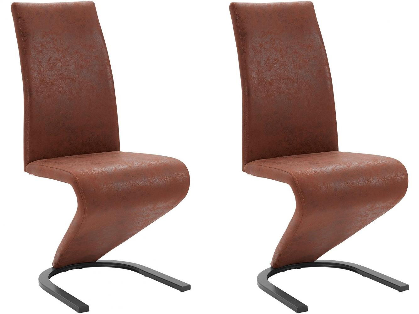 Jídelní židle Zapi (SET 2 ks), hnědá