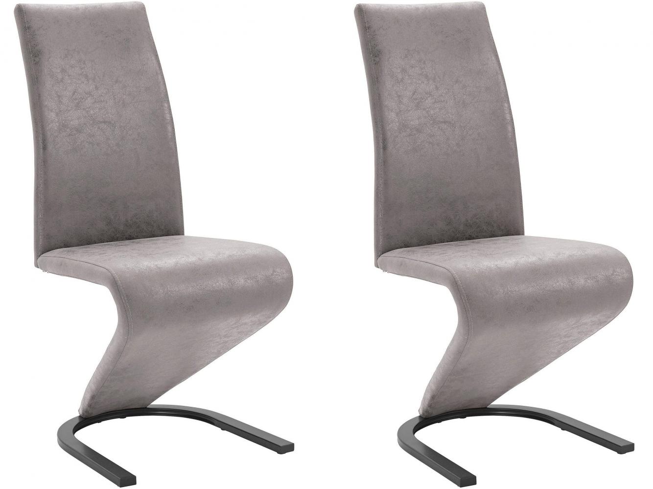 Jídelní židle Zapi (SET 2 ks), světle šedá