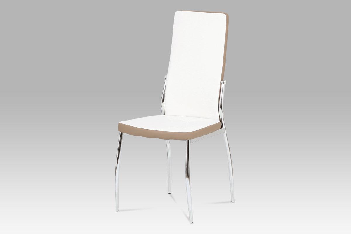 Jídelní židle Zoja, bílá/cappuccino