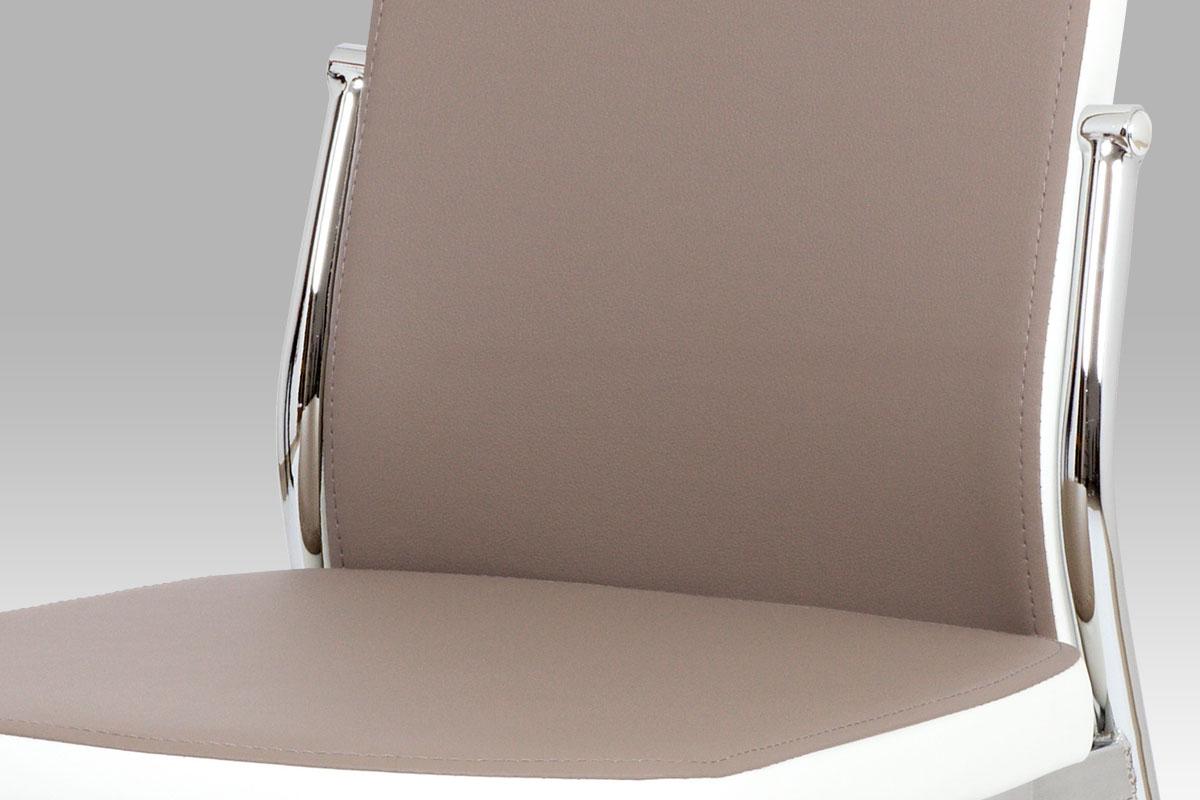 Jídelní židle Zoja, lanýž/bílá