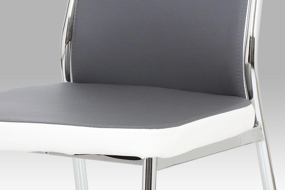 Jídelní židle Zoja, šedá/bílá