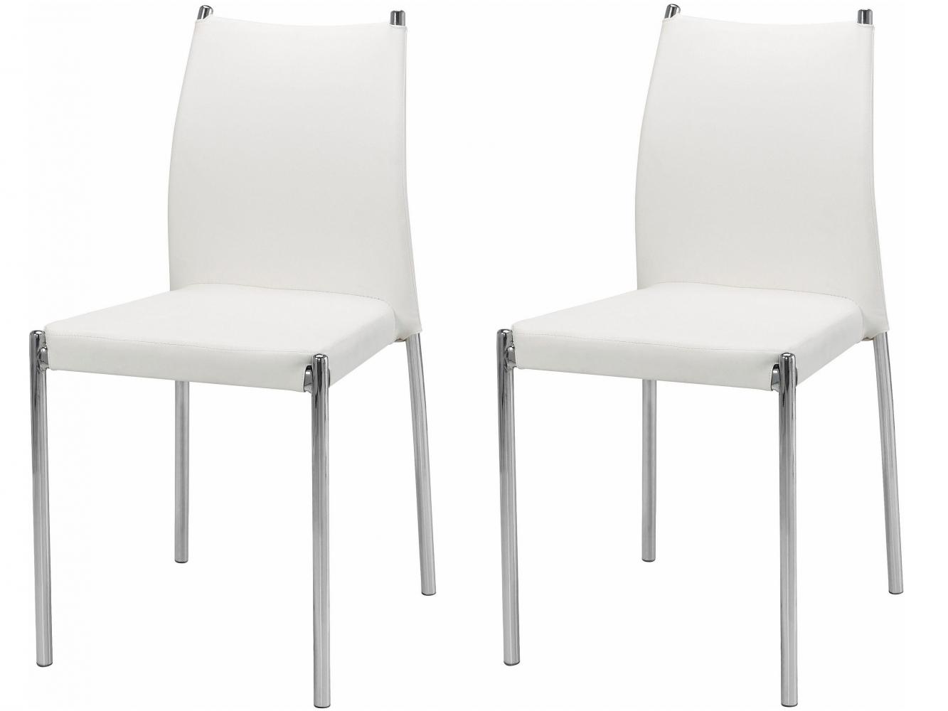 Jídelní židle Zunu (SET 2 ks), bílá
