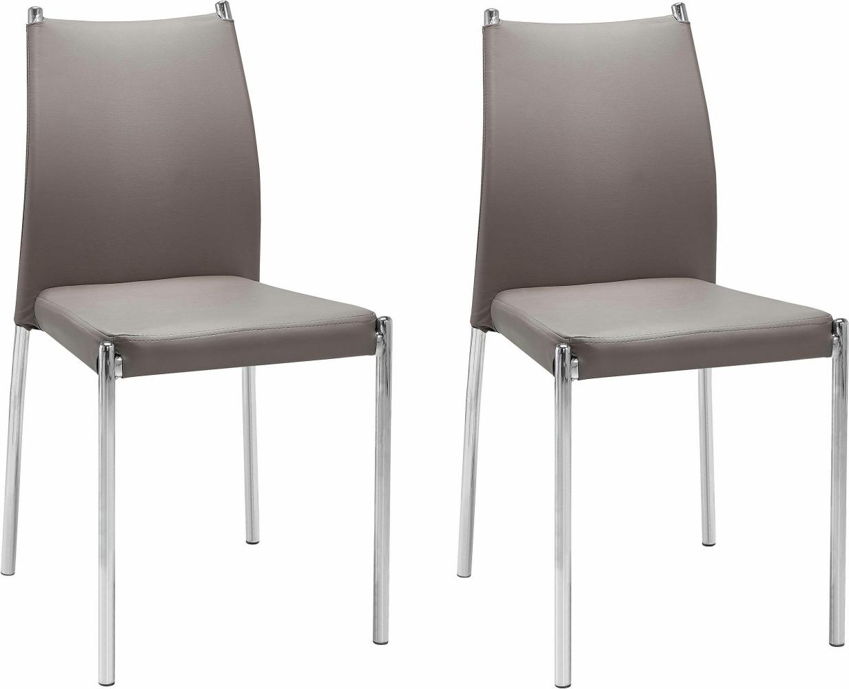 Jídelní židle Zunu (SET 2 ks), cappuccino