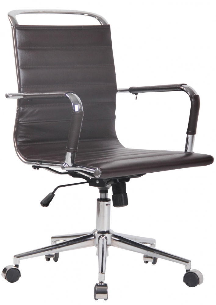 Kancelářská židle Barton, hnědá