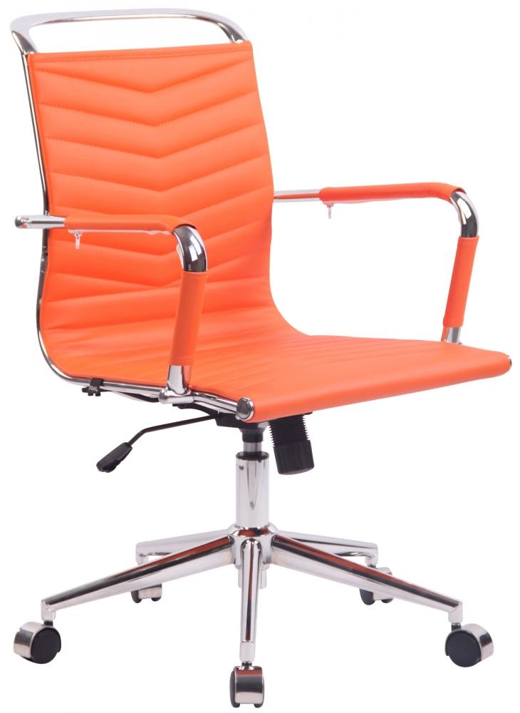 Kancelářská židle Burnle, oranžová