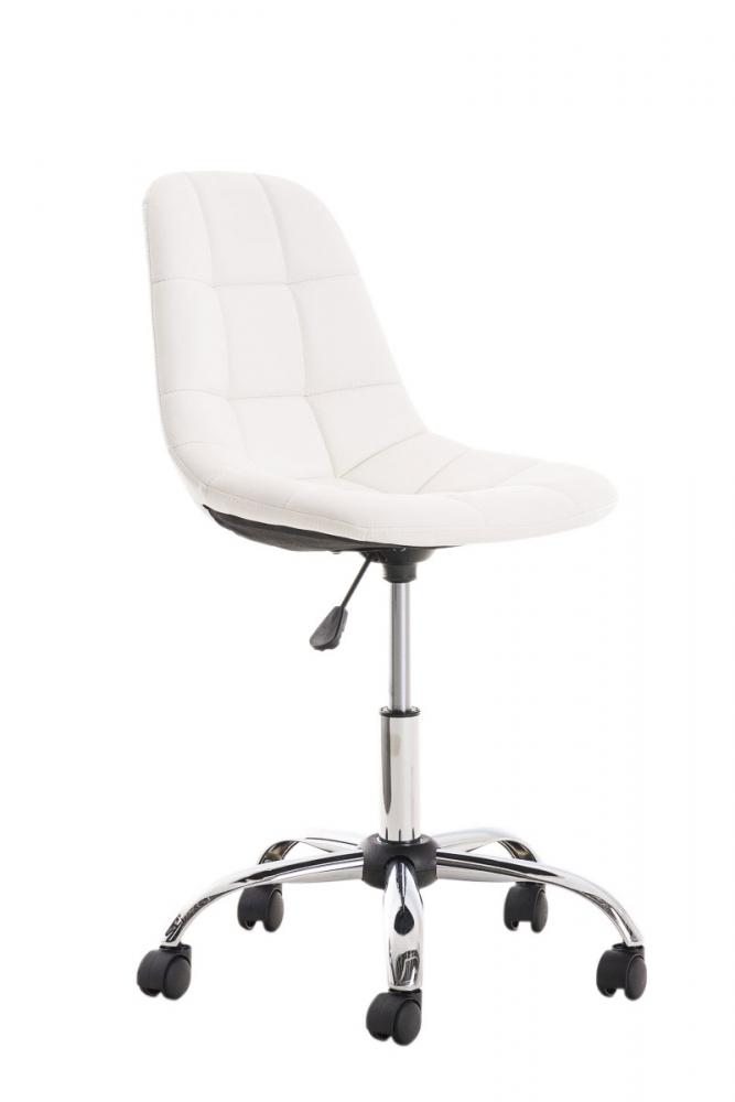 Kancelářská židle Emil, syntetická kůže, bílá