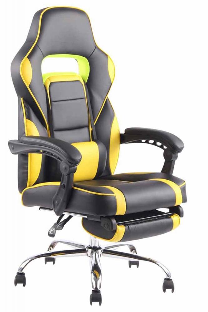 Kancelářská židle Fatis, černá / žlutá