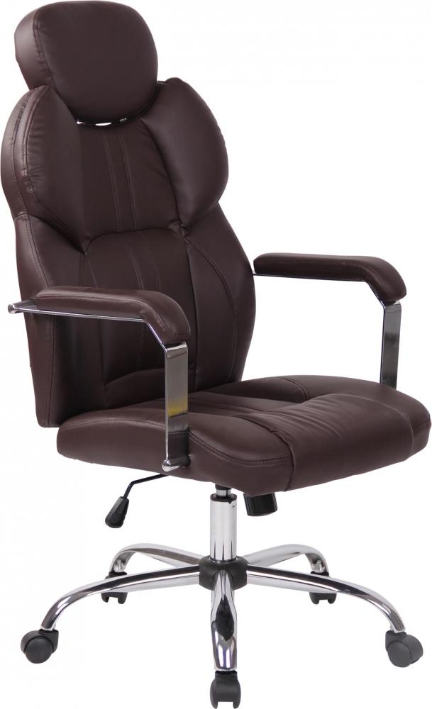 Kancelářská židle Gerda, hnědá