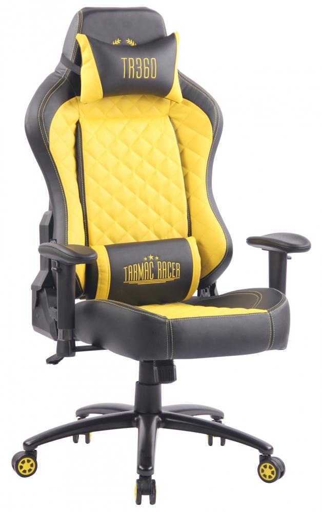 Kancelářská židle Gregory, černá / žlutá