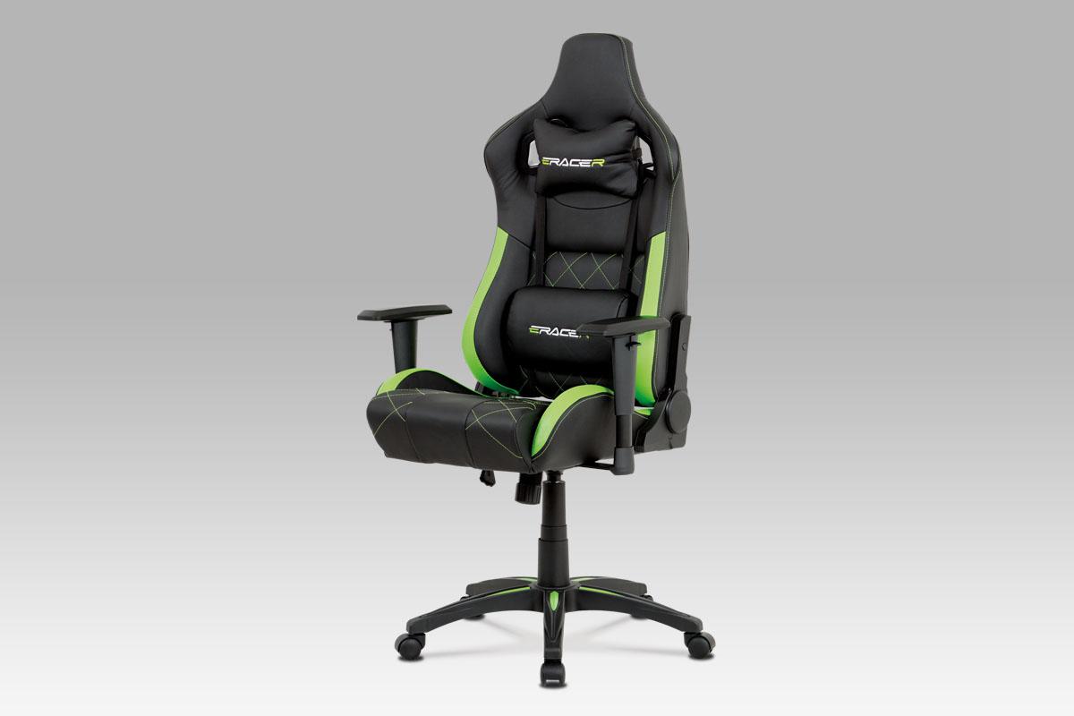 Kancelářská židle Hugh, černá / zelená